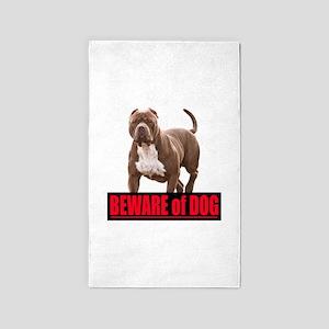 Beware of dog Area Rug