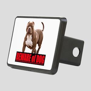Beware of dog Rectangular Hitch Cover