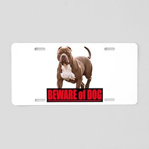 Beware of dog Aluminum License Plate