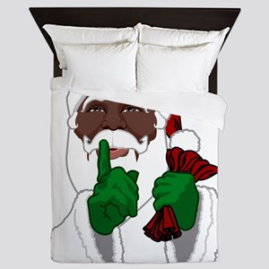African Santa Clause Queen Duvet