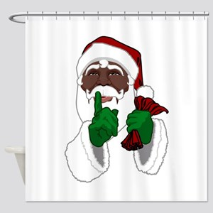 African Santa Clause Shower Curtain