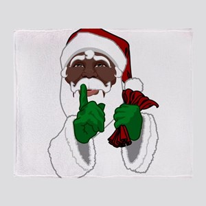 African Santa Clause Throw Blanket