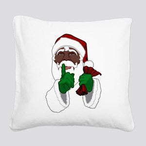African Santa Clause Square Canvas Pillow