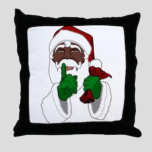African Santa Clause Throw Pillow