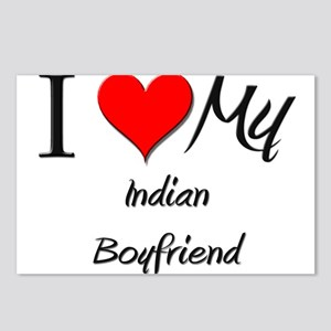 I Love My Indian Boyfriend Postcards (Package of 8