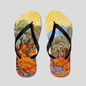 Olive Trees with Yellow Sky and Sun by Flip Flops