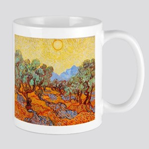 Olive Trees with Yellow Sky and Sun by Van Go Mugs