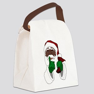 African Santa Clause Canvas Lunch Bag