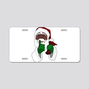 African Santa Clause Aluminum License Plate