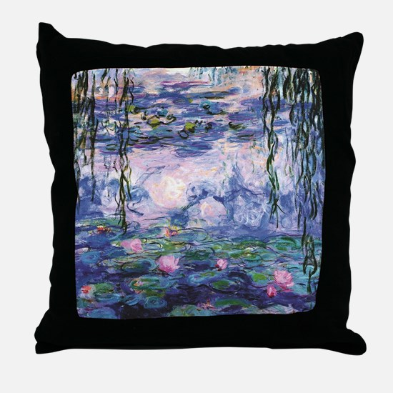 Unique Water lilies Throw Pillow