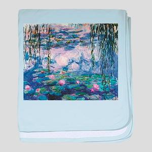 Monet's Water Lilies baby blanket