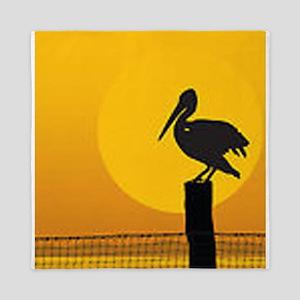 Pelican Bird Queen Duvet