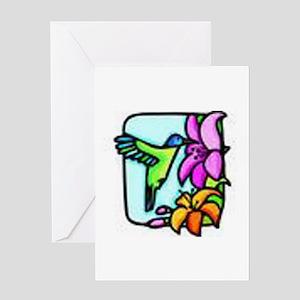 Hummingbird drawing Greeting Card