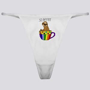 Funny Sloffee Sloth Coffee Classic Thong