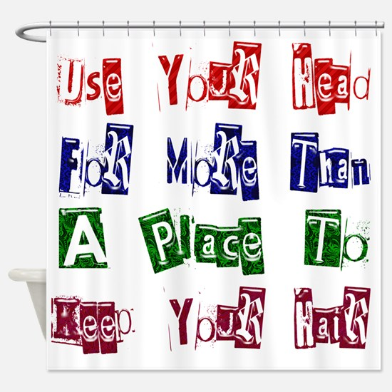 Use Your Head Shower Curtain