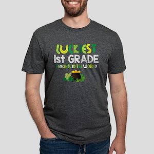 Luckiest 1st Grade Teacher Mens Tri-blend T-Shirt