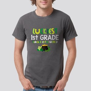 Luckiest 1st Grade Teach Mens Comfort Colors Shirt