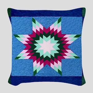 Star Quilt Woven Throw Pillow