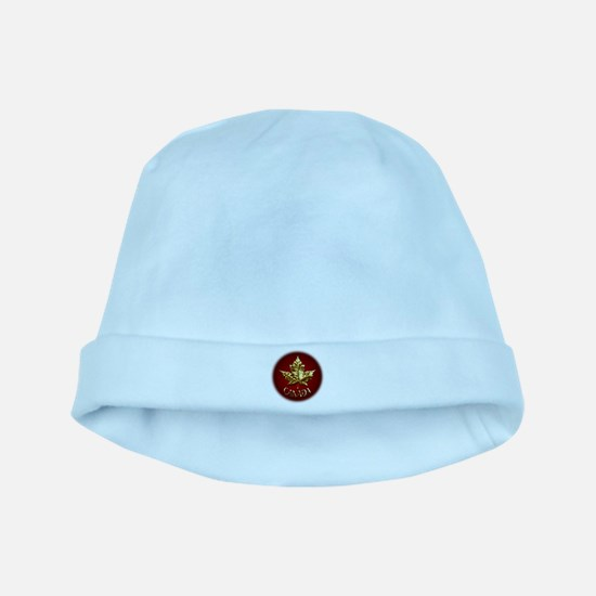 Gold Canada Souvenir baby hat