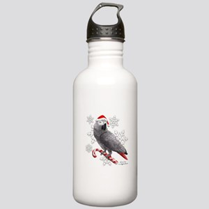 Christmas African Grey Stainless Water Bottle 1.0L