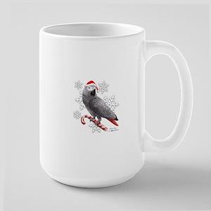 Christmas African Grey Parrot Mugs
