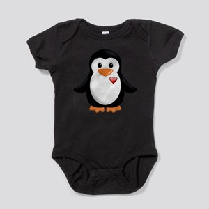 penguin with heart Body Suit