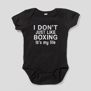 Boxing It Is My Life Baby Bodysuit