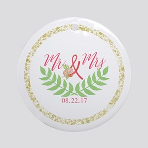 Personalized Wedding Date Round Ornament