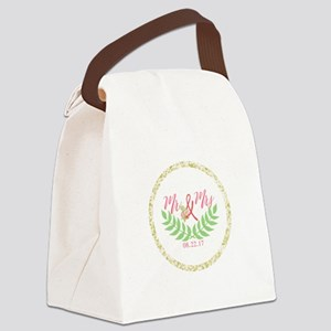 Personalized Wedding Date Canvas Lunch Bag