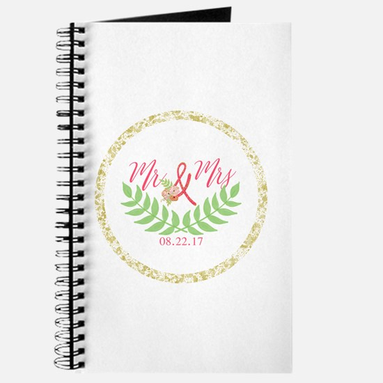 Personalized Wedding Date Journal