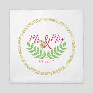 Personalized Wedding Date Queen Duvet