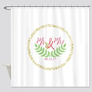 Personalized Wedding Date Shower Curtain