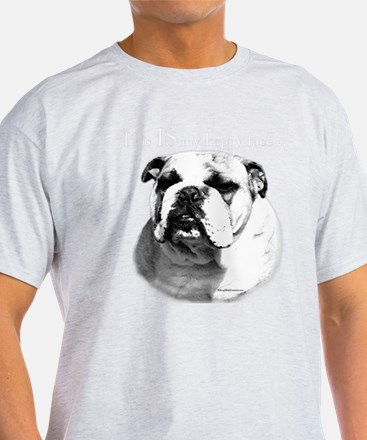 Bull Dog Happy Face Dark T-Shirt