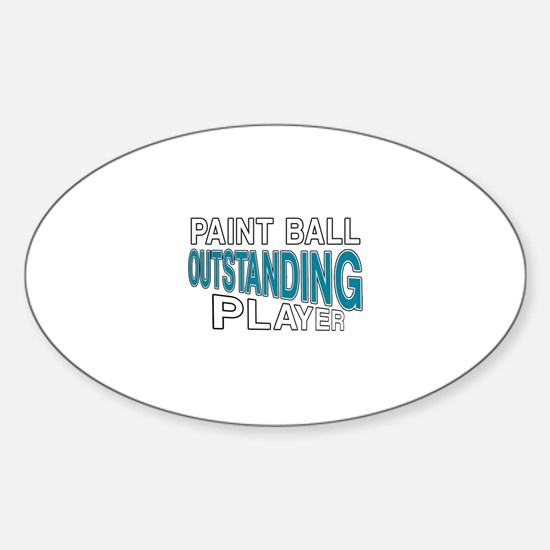 Paintball Outstanding Player Sticker (Oval)