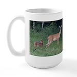 Doe and Fawn Large Mug