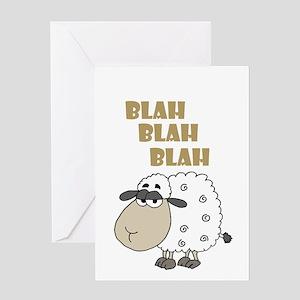 Blah Blah Blah Sheep Greeting Cards