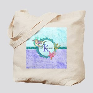 Personalized Monogram Mermaid Tote Bag