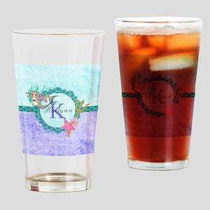 Personalized Monogram Mermaid Drinking Glass
