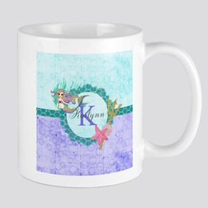 Personalized Monogram Mermaid Mugs