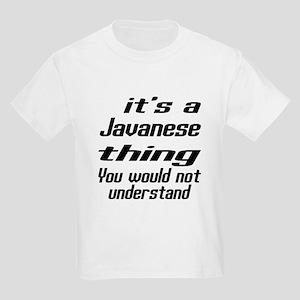 Javanese Thing You Would Not Un Kids Light T-Shirt