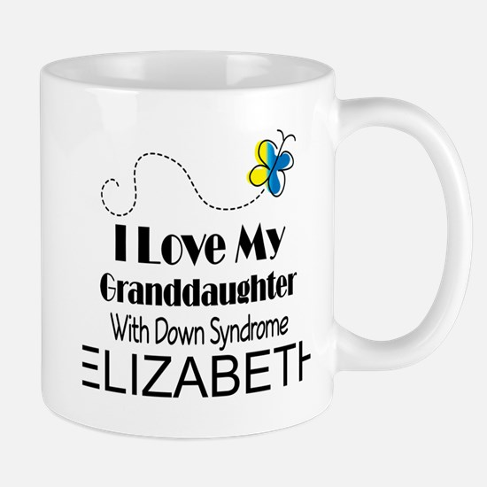 Down Syndrome Granddaughter Personalized Mugs