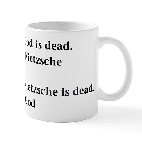 God and Nietzsche Mugs