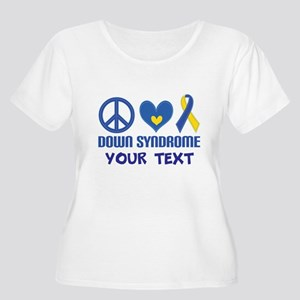 Down Syndrome Personalized Plus Size T-Shirt