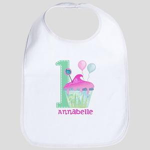 Baby Girl 1st Birthday Baby Bib