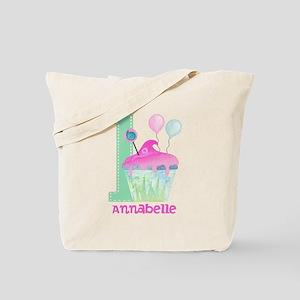 Baby Girl 1st Birthday Tote Bag