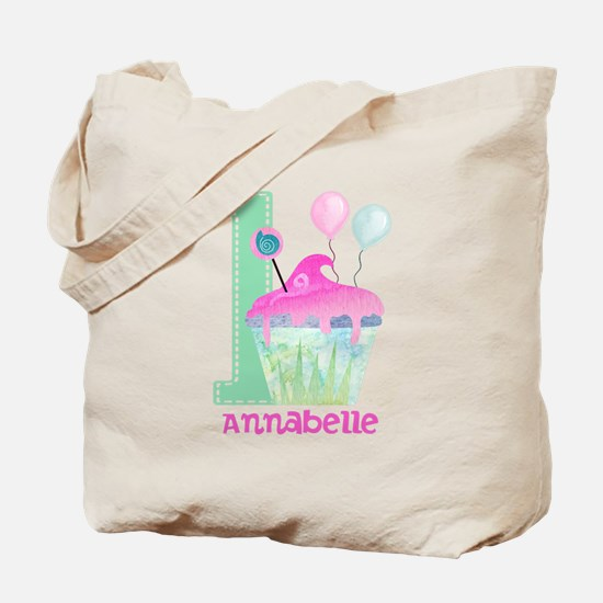 Baby Girl 1st Birthday Tote Bag