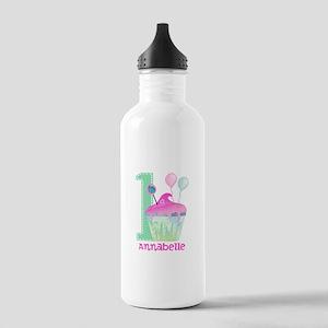 Baby Girl 1st Birthday Water Bottle