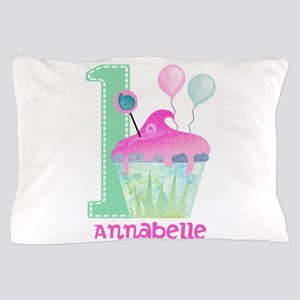 Baby Girl 1st Birthday Pillow Case