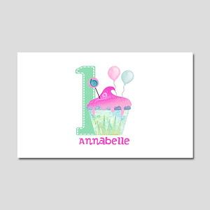 Baby Girl 1st Birthday Car Magnet 20 x 12