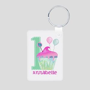 Baby Girl 1st Birthday Keychains